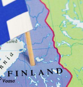 Финляндия. Флаг. Карта