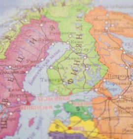 Обучение в школах Финляндии, Швеции, Норвегии. Карта